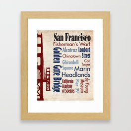 Travel - San Francisco Framed Art Print
