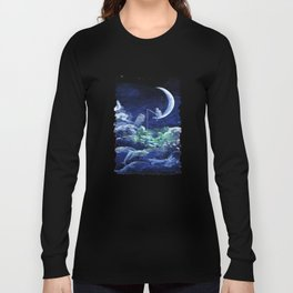 The Doctor Dreaming Of Fishing Long Sleeve T-shirt