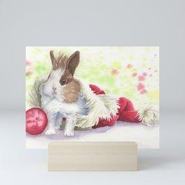 Christmas Bunny Mini Art Print