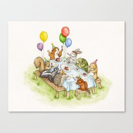 Birthday Party Picnic Canvas Print