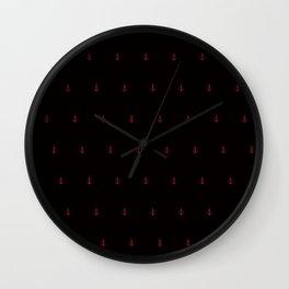 Red Anchors Wall Clock