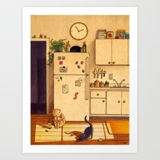 Kitchen Floor Art Print