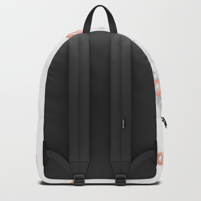 XOXO Text Rose Gold on Marble Backpack
