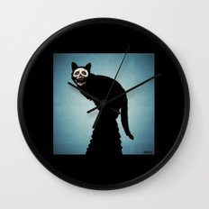 Skullcat Wall Clock