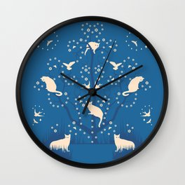 twilight tomcats Wall Clock