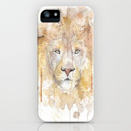 "Watercolor Painting of Picture ""African Lion"" iPhone Case"