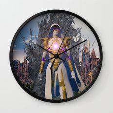 Ascend from Ruin Wall Clock