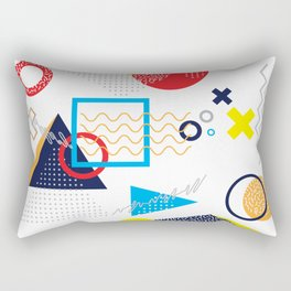 Memphis Pattern Rectangular Pillow