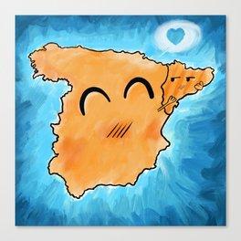Spain loves Catalonia Canvas Print