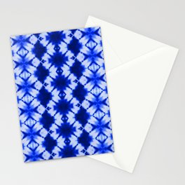 indigo shibori print Stationery Cards