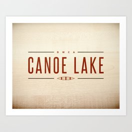 CANOE LAKE Art Print