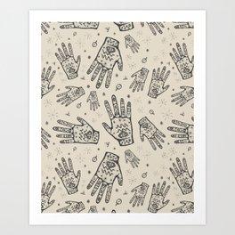 Hand of Truth Art Print