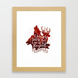 I solemnly swear - white Framed Art Print
