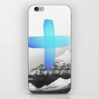 mountains iPhone & iPod Skins featuring Mountains by Amy Hamilton