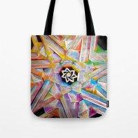 escher Tote Bags featuring Escher Star by Todd Huffine