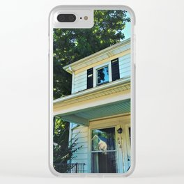 Vintage Summer House Clear iPhone Case