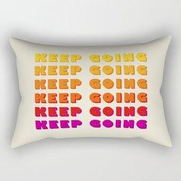 KEEP GOING - POSITIVE QUOTE Rectangular Pillow
