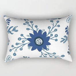 Porcelain Flowers Rectangular Pillow