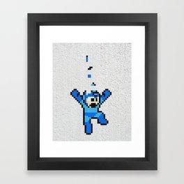 Megaman Tetris Framed Art Print