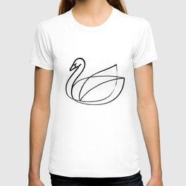 Swan, Brushed Ink T-shirt