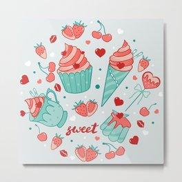 Valentine's sweets - Pastel Metal Print