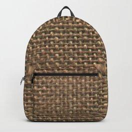 Hessian fabric Backpack