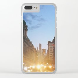 New York City Evening Lights Clear iPhone Case