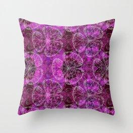 Diamonds Purple Throw Pillow