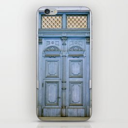 Door Series - Blue Door II iPhone Skin
