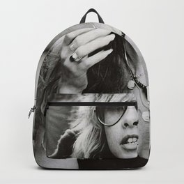 Stevie Nicks Young Black and white Retro Silk Poster Frameless Art Print Backpack
