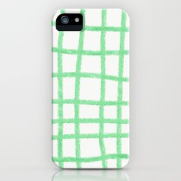 Green gridwork iPhone Case