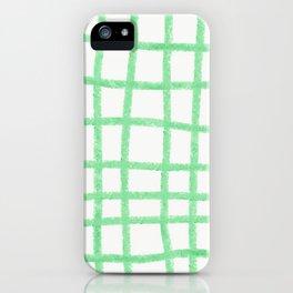 Green gridwork iPhone Case