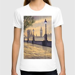 A Misty London - After Yet More Rain T-shirt