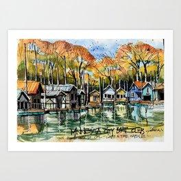 Boat Club, Minnesota Art Print