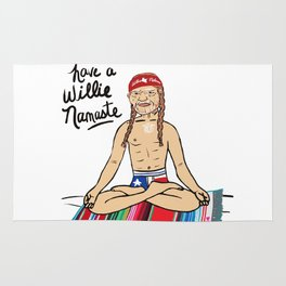 Willie Nelson Yoga Namaste Rug