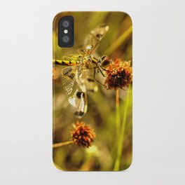 Black-tailed Skimmer Dragonfly iPhone Case