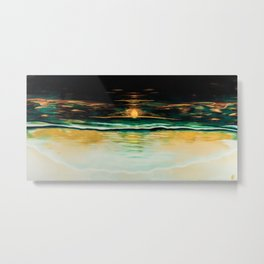 Bathing Sunset Metal Print
