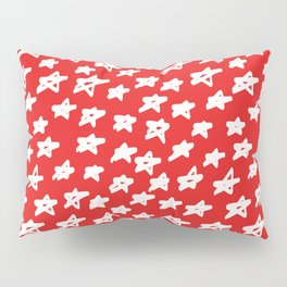 Stars on red background Pillow Sham
