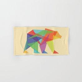 Fractal Geometric bear Hand & Bath Towel