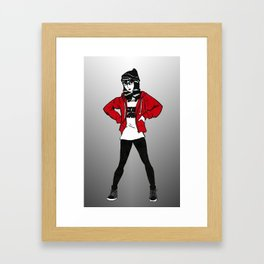 Red Sweater - B&W Variant  Framed Art Print