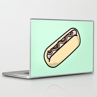 hot dog Laptop & iPad Skins featuring Hot Dog by Tees & Thanks