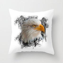 Eagle falcon buzzard bird of prey nature wild animal flying gift idea Throw Pillow