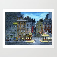 Night at Little Italy Art Print