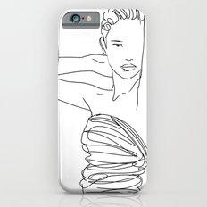 Line Art Lady iPhone 6s Slim Case