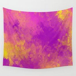 Sponged Painted Colors 5 Wall Tapestry