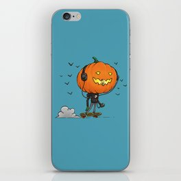 The Skater Pumpkin iPhone Skin