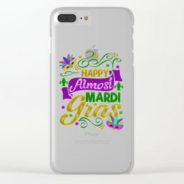 Mardi Gras Parade 2019 Beads Party Shirt Gift Idea Light Clear iPhone Case