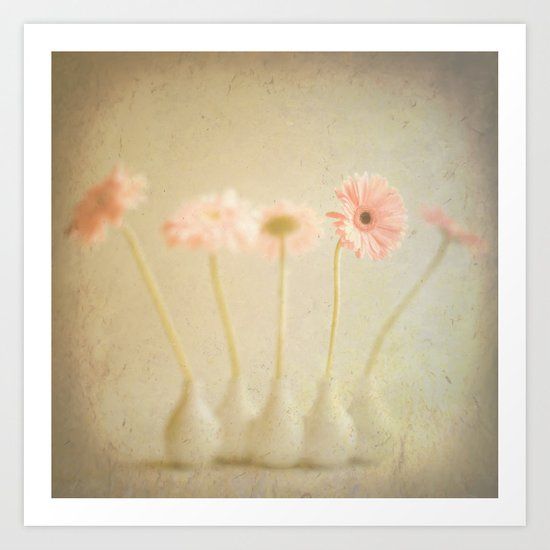 Textured Flowers (vintage flower photography) Art Print