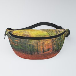 Serene Autumn Forest landscape Fanny Pack