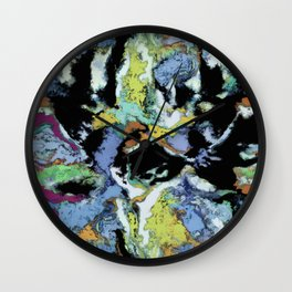 Crunchy cloudy Wall Clock